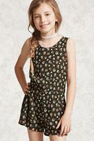 Forever 21 Girls Floral Gauze Romper (Kids)