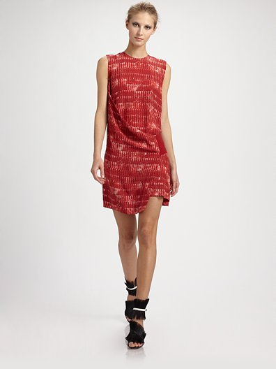 Reed Krakoff Silk Banded Shift Dress