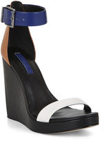 BCBGMAXAZRIA Ledge Color-Blocked Wedge Day Sandal