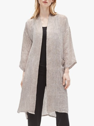Eileen Fisher Organic Linen Gauze Jacket, Natural