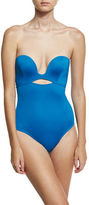 Proenza Schouler Plunge-Neck Solid One-Piece Swimsuit