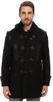 Andrew Marc Pierce Textured Wool Plaid Toggle Coat