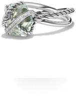 David Yurman Cable Wrap Ring with Prasiolite & Diamonds