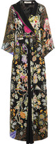 Etro Embellished Printed Silk-chiffon Gown - Black