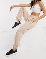 Nike Mini Swoosh Oversized Light Beige Sweatpants