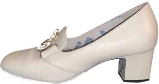 Gucci Malaga White Leather Heels