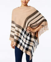 Charter Club Brushed Plaid Poncho, Created for Macy's