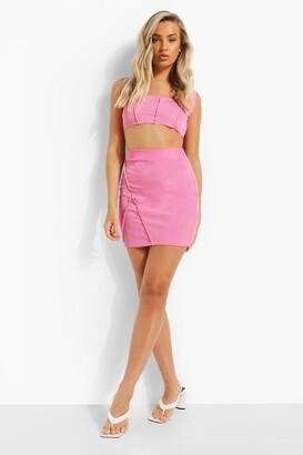 boohoo Exposed Seam Mini Skirt