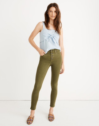 """Madewell Tall 9"""" Mid-Rise Skinny Crop Jeans: Garment-Dyed Button-Front Edition"""