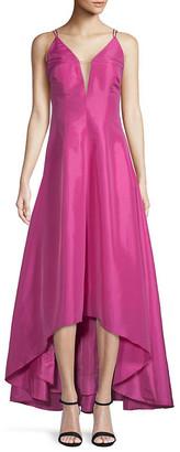 Calvin Klein Deep V-Neck High-Low Ball Gown