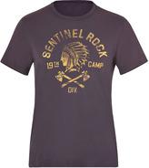 Ralph Lauren Patriot Blue Sentinel Rock Print Cotton T-Shirt