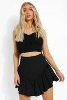 Thumbnail for your product : boohoo Frill V-shaped Hem Skater Skirt