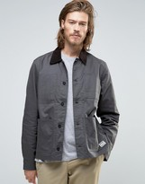 Element Union Chore Worker Jacket Waxed In Off Black