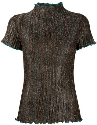M Missoni metallic sheen short-sleeve T-shirt