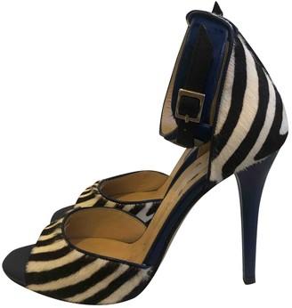 Max Mara Black Pony-style calfskin Sandals