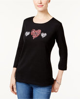Karen Scott Heart Graphic Top, Only at Macy's
