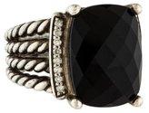 David Yurman Onyx & Diamond Wheaton Ring