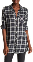 KUT from the Kloth Kazu Plaid Button Down Tunic