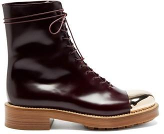 Gabriela Hearst Riccardo Toe-cap Leather Boots - Burgundy Gold
