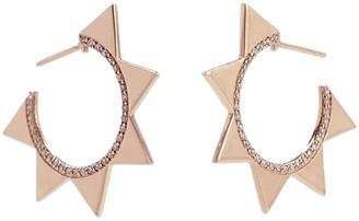 BONDEYE JEWELRY 14kt rose gold Venus diamond hoop earrings