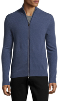 Saks Fifth Avenue Full Zip Cashmere Sweater