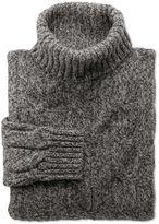 Charles Tyrwhitt Grey Mouline Roll Neck Wool Jumper Size XXL