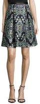 Nicole Miller Resplendent Crystal-Print Skirt