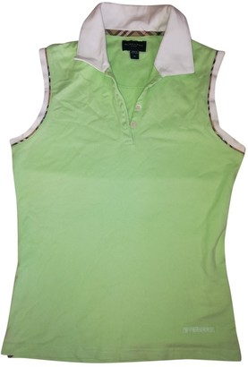 Burberry Green Cotton Top for Women