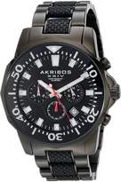 Akribos XXIV Men's AK561BK Conqueror Stainless Steel Divers Chronograph Watch