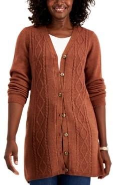 Karen Scott Turbo Button-Front Cardigan, Created for Macy's