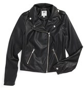 Milly Minis Girl's Faux Leather Moto Jacket