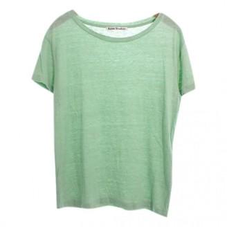Acne Studios Green Cotton Top for Women