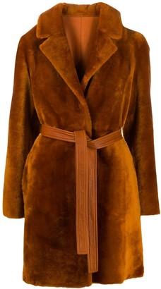 Blancha Belted Faux Fur Coat