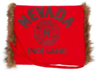 Raf Simons Nevada Faux Fur-lined Wool Muff - Red