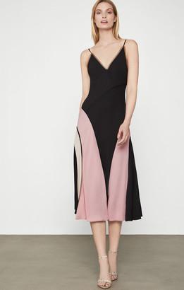 BCBGMAXAZRIA Color Block Slip Dress