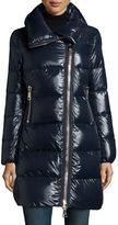 Moncler Joinville Long Asymmetric Puffer Jacket