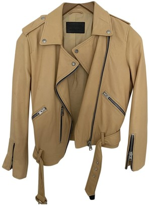 AllSaints Yellow Leather Jacket for Women