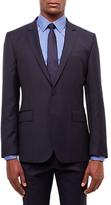 Jaeger Wool Plain Weave Regular Fit Suit Jacket, Navy