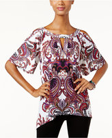 INC International Concepts Paisley-Print Embellished Top, Only at Macy's