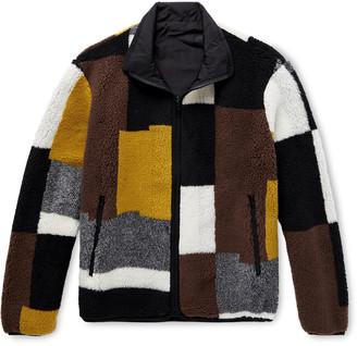 John Elliott Nashville Reversible Colour-Block Polar Fleece Jacket