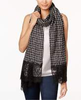 MICHAEL Michael Kors Houndstooth and Lace Wrap and Scarf in One