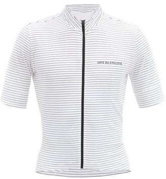 Café Du Cycliste Francine Zipped Technical-jersey Cycling Top - White Multi