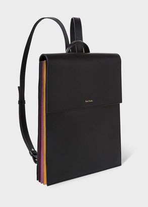 Paul Smith Women's Black 'Concertina' Leather Backpack