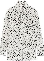 Dolce & Gabbana Pussy-bow polka-dot silk crepe de chine blouse