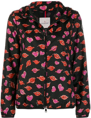 Moncler Lips And Heart Print Jacket