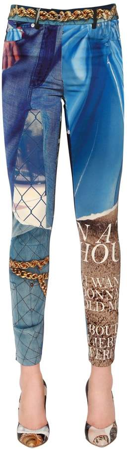 Moschino Printed Matt Satin Pants