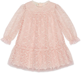 Gucci Baby tulle dress with GG garland embroidery