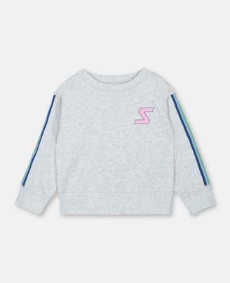Stella Mccartney Kids Stella McCartney sport sweatshirt with rainbow logo tape