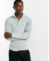 Express mock neck cotton ribbed sweater