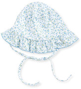 Kissy Kissy Spring Meadow Pima Floppy Sun Hat, Blue/White